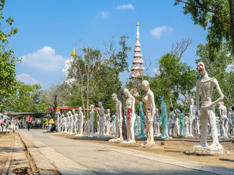 kilka statuy Buddha posturesimulate statuy zły peopl zdjęcie royalty free