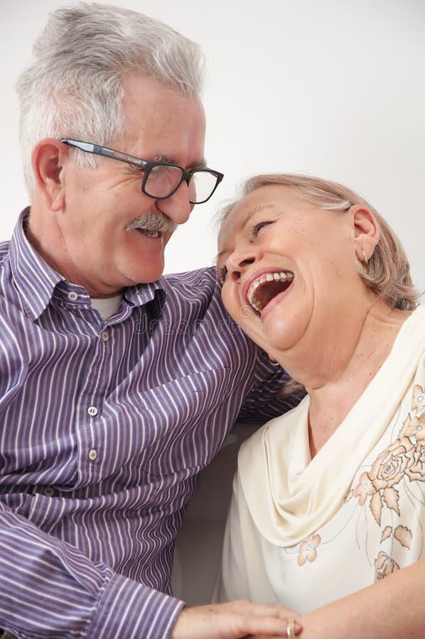 kilka szczęśliwy starszy uśmiecha się fotografia royalty free