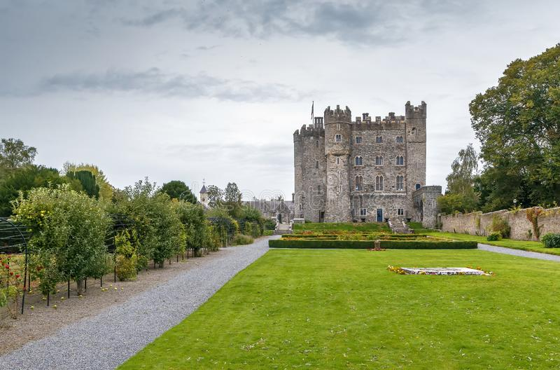 Kilkea kasztel, Irlandia fotografia stock