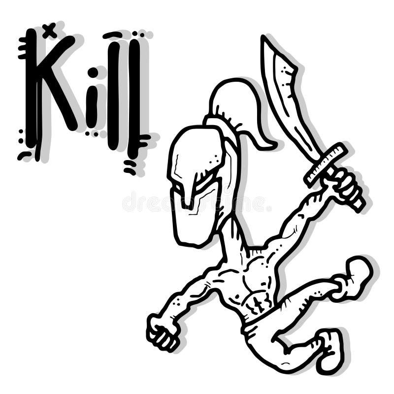 Download Kill cartoon stock vector. Image of black, cartoon, power - 26615024