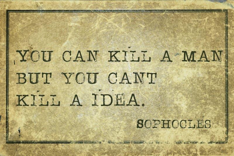 Kill idea print stock image