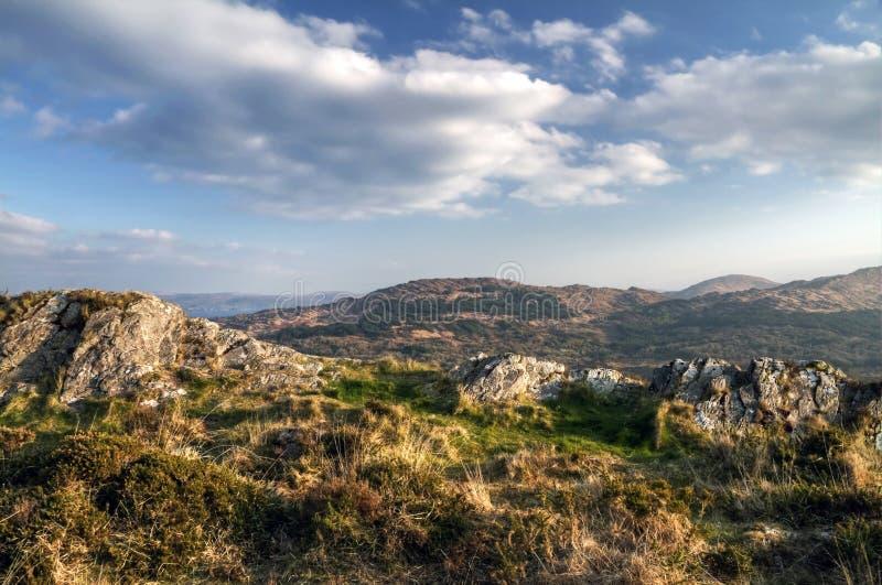 Killarney mountains HDR stock photography