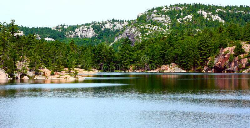 Killarney Provincial Park Landscape. A beautiful landscape of Killarney Provincial Park in Ontario showing the mountains that were carved out by glaciers stock photos