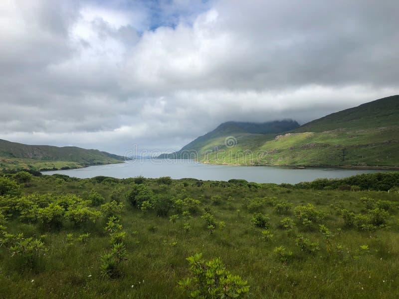 Killary港口,海湾风景在Connemara,爱尔兰 库存照片