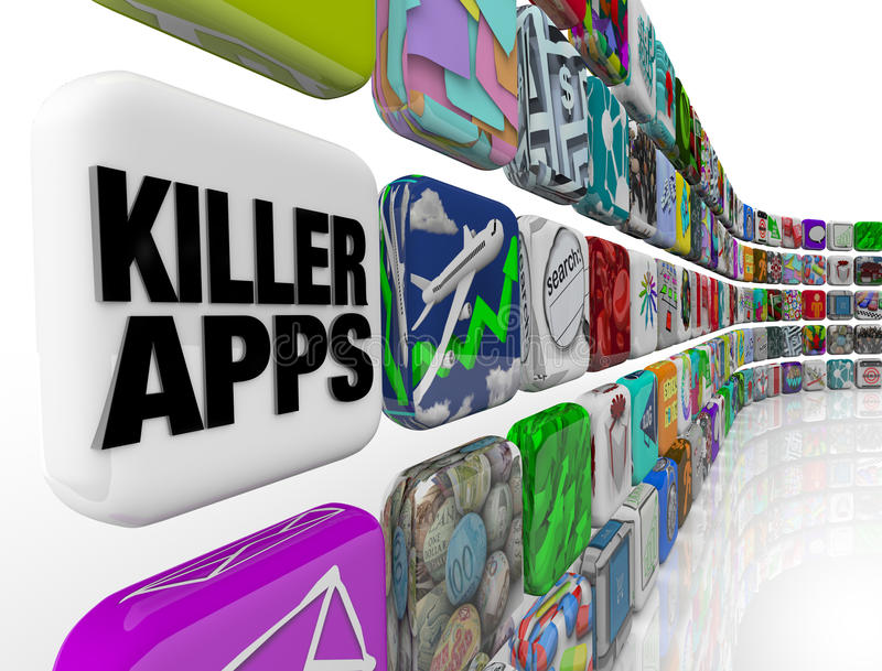 Download Killer Apps Store Applications Software Download Stock Illustration - Illustration of downloading, functions: 22656262