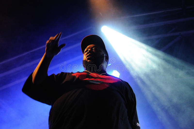 Killer Mike, a rapper, performs at Heineken Primavera Sound 2013 Festival. BARCELONA - MAY 23: Killer Mike, a rapper, performs at Heineken Primavera Sound 2013 royalty free stock photography