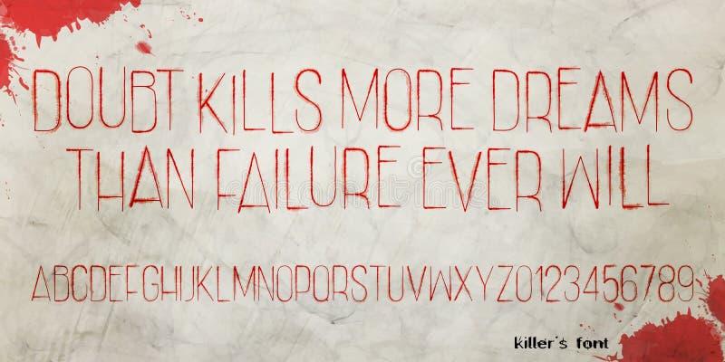 Killers font stock illustration