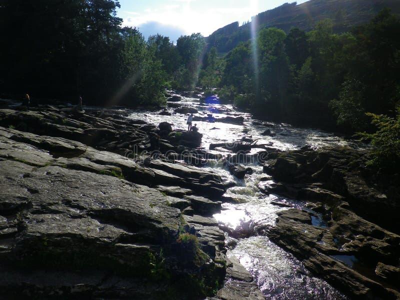 Killin vattenfall arkivfoto