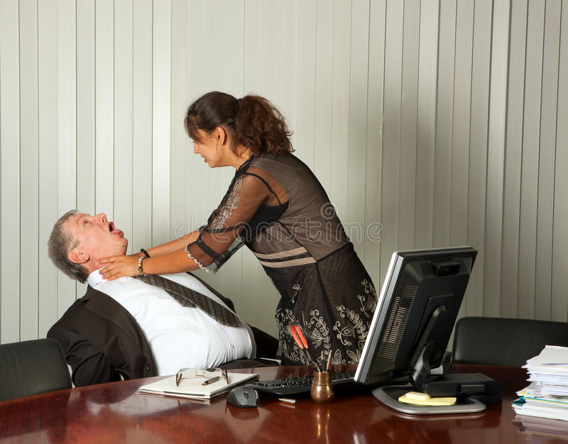 Download Killing the boss stock image. Image of desk, secretary - 17531327