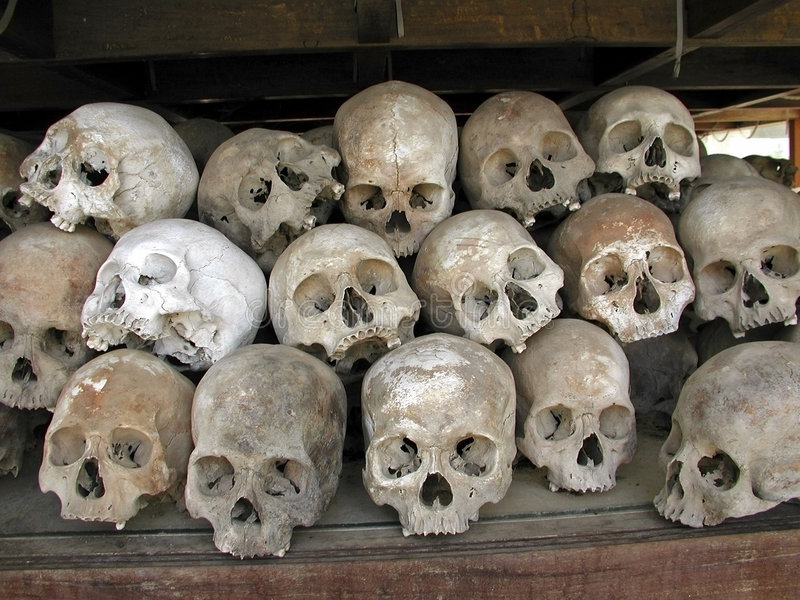 Download Killing Fields Skulls Stock Photo - Image: 760