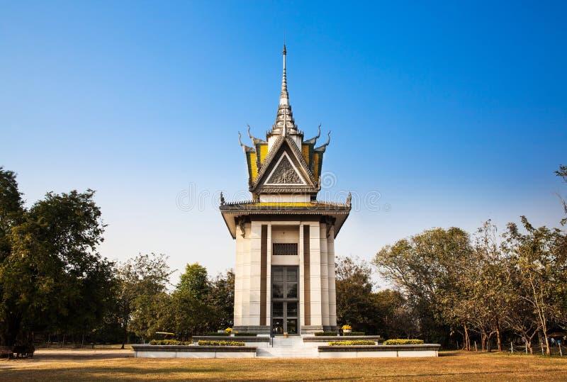 Killing pole, Choeung Ek, Phnom Penh, Kambodża. zdjęcia stock
