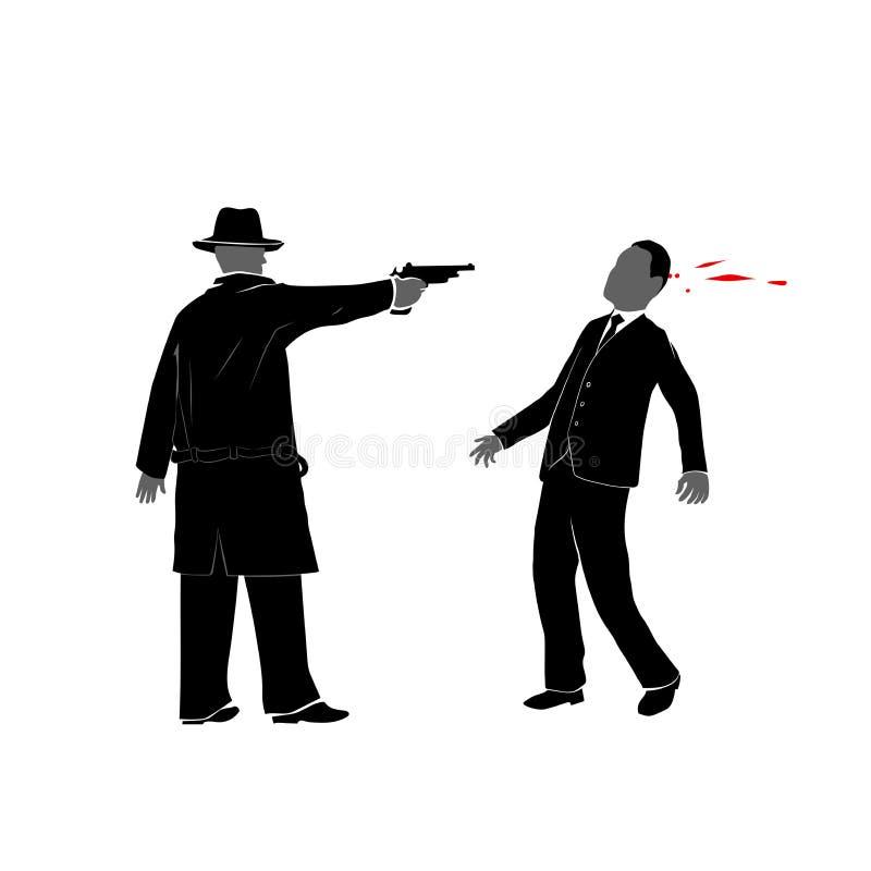 Killing z pistoletem ilustracji