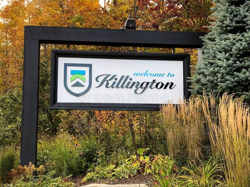 Killington sign in Killington Mountain Resort royalty free stock photography