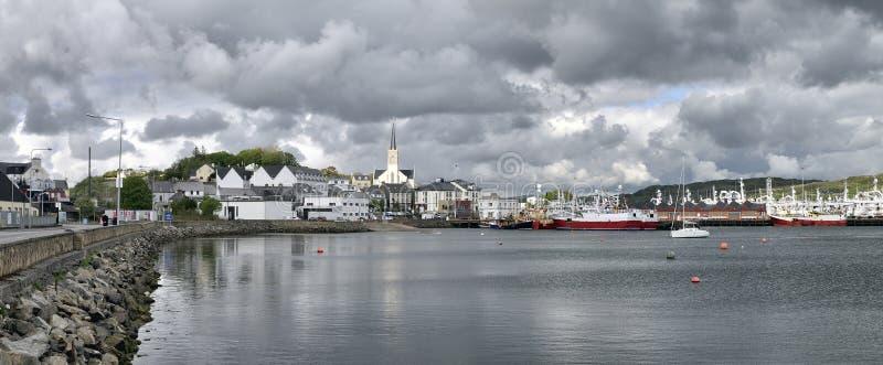 Killybegs harbour stock image