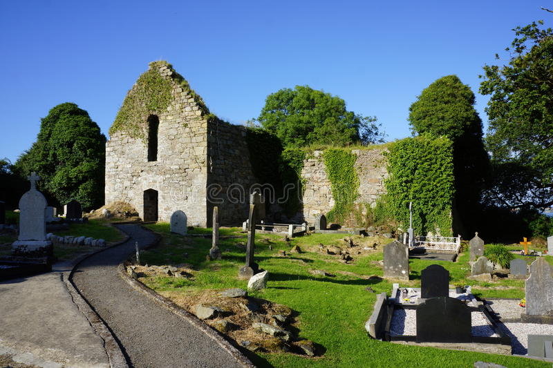Killydonnell Friary. Was founded in 1471 by the O Donnells for Franciscan Friars on the site of an older church erected by the O Tonners.The beautiful stone royalty free stock photography