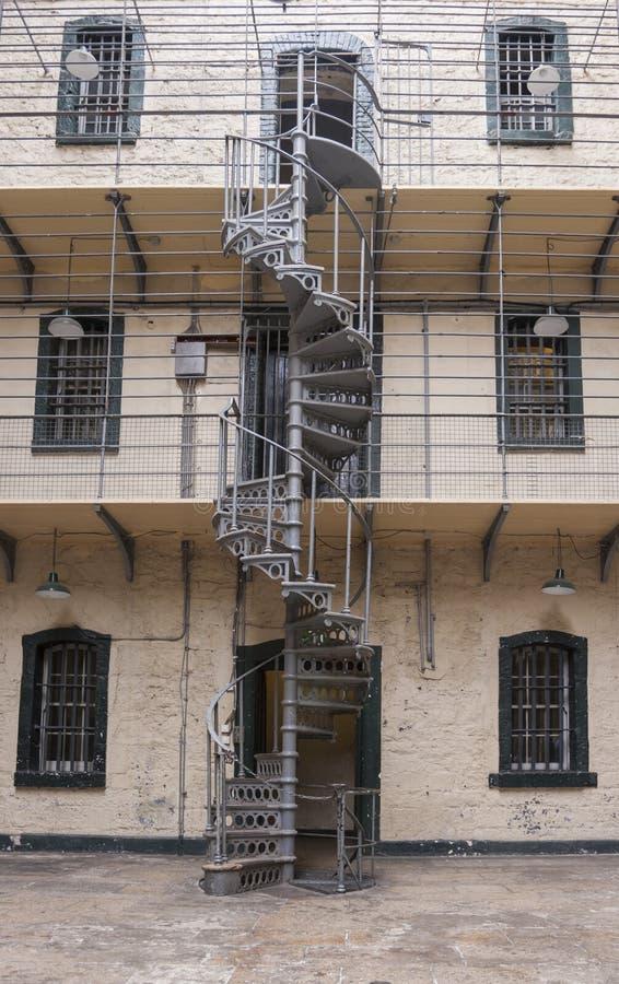 Kilmainham Gaol. Dublin, Ireland - Aug 14:Interior of Kilmainham Gaol in Dublin, Ireland on August 14, 2014 stock image