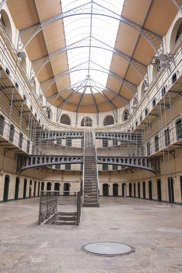 Kilmainham Gaol. Dublin, Ireland - Aug 14:Interior of Kilmainham Gaol in Dublin, Ireland on August 14, 2014 royalty free stock photography