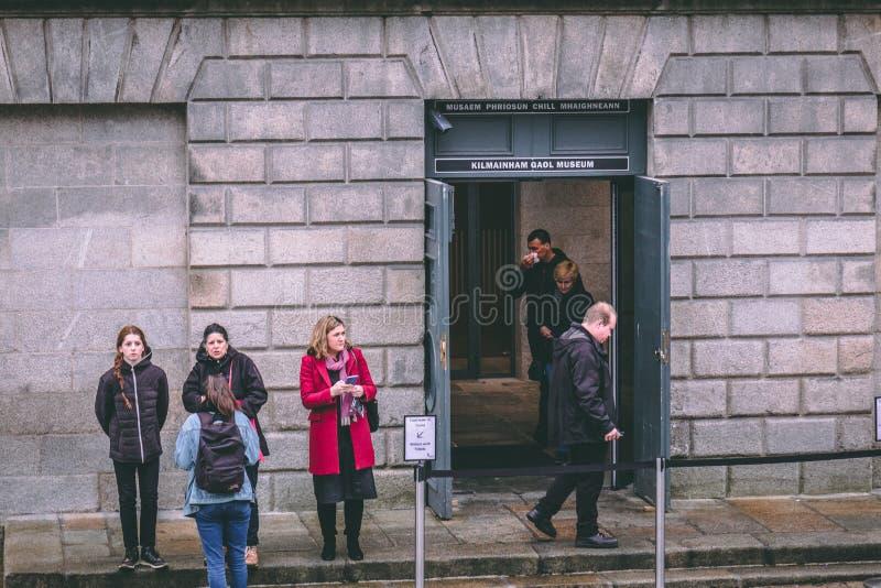 Kilmainham Gaol, een vroegere gevangenis in Kilmainham, Dublin, Ierland stock foto's