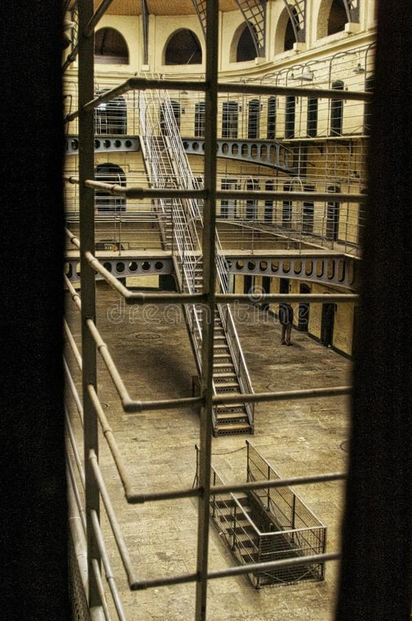 Kilmainham Gaol. Is a former prison in Kilmainham, Dublin, Ireland. It is now a museum run by the Office of Public Works, an agency of the Government of Ireland royalty free stock photo