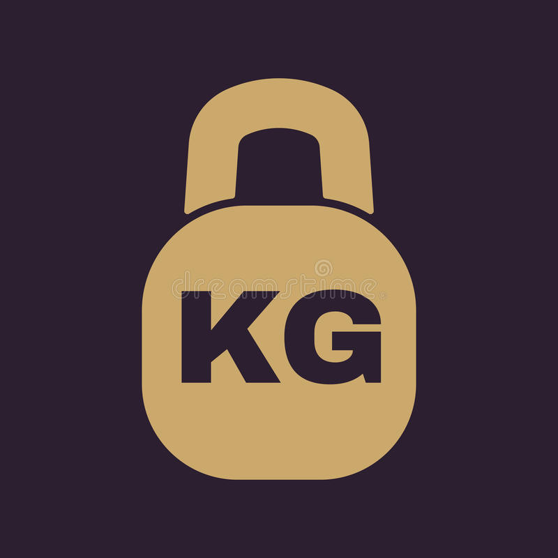 The Kilogram Icon Kg And Weight Symbol Flat Stock Vector