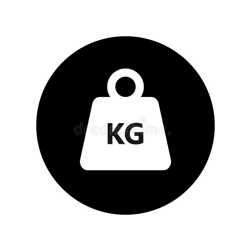 Kilogram weight in the circle graphic Icon royalty free illustration