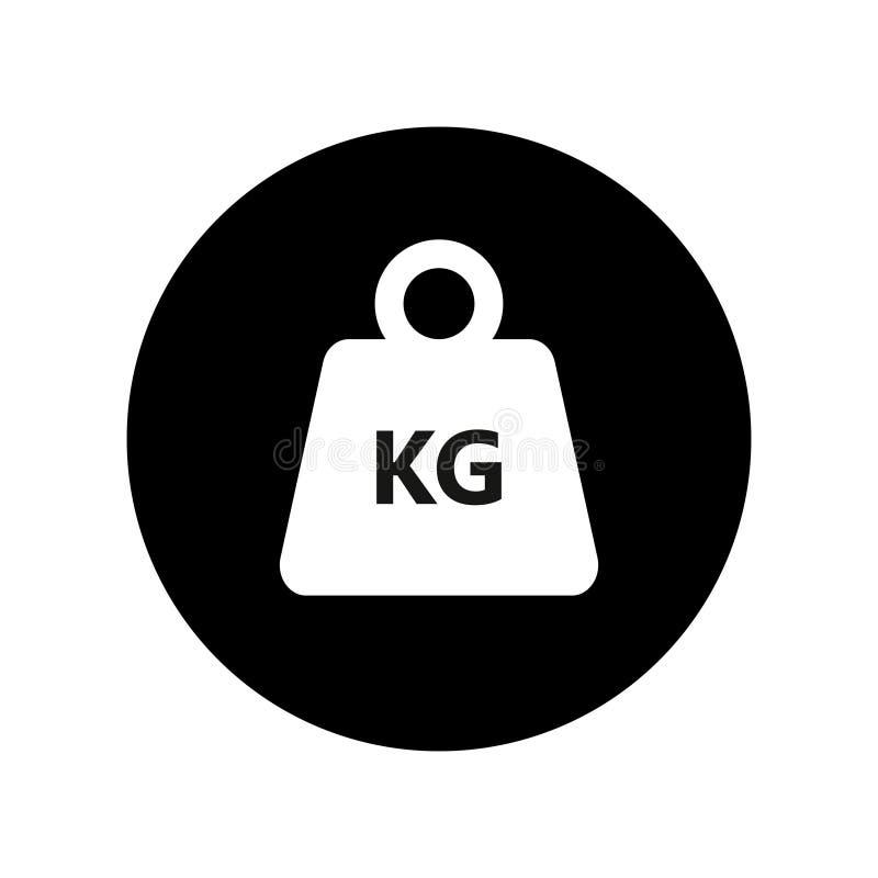 Kilogramgewicht in het cirkel grafische Pictogram royalty-vrije illustratie
