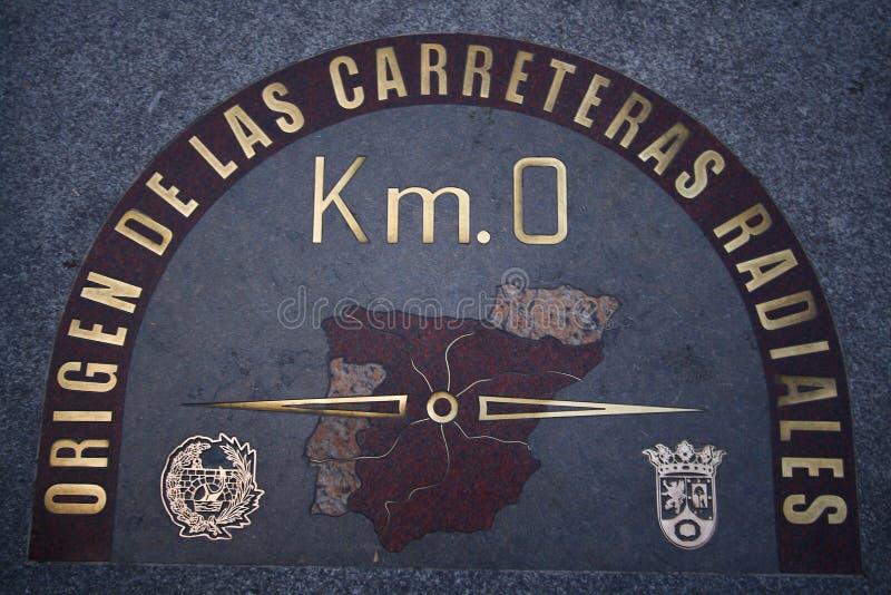 Kilomètre 0 photo libre de droits