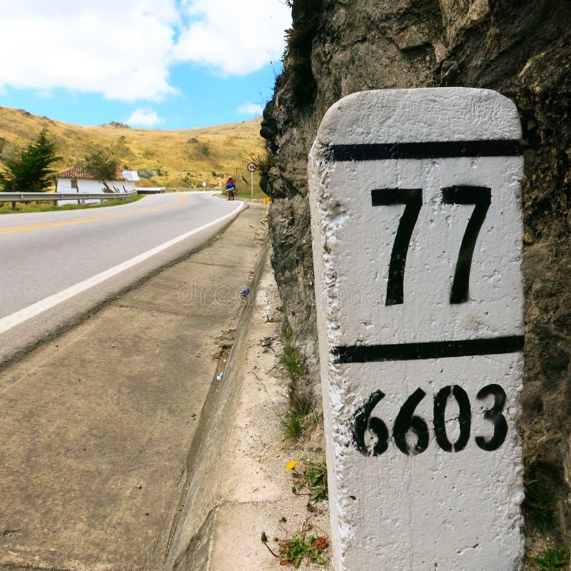 Kilometer 77 lizenzfreies stockfoto
