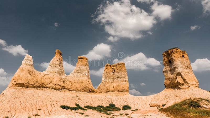 `Land Forest` Scenic spot in Shanxi Province, China. About 20 kilometers southeast of Datong City, Shanxi Province, China, there is a `land forest` scenic spot stock images