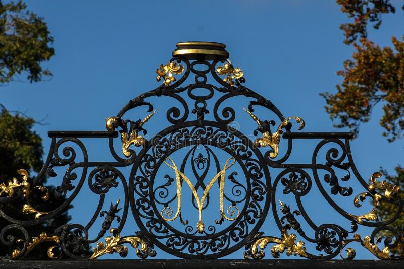 Kilruddery Haus u. Gärten. Monogramm. Irland lizenzfreie stockfotos
