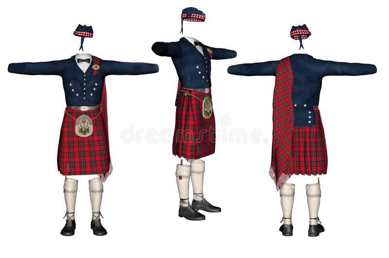 Kilt escocês ilustração royalty free