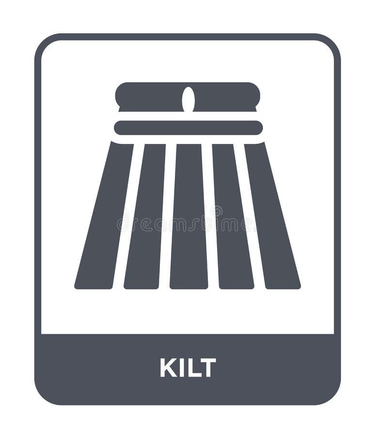 kilt ikona w modnym projekta stylu kilt ikona odizolowywająca na białym tle kilt wektorowej ikony prosty i nowożytny płaski symbo ilustracja wektor