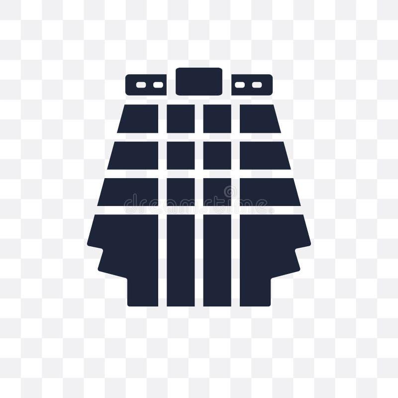 Kilt przejrzysta ikona Kilt symbolu projekt od Odzieżowego collectio ilustracji