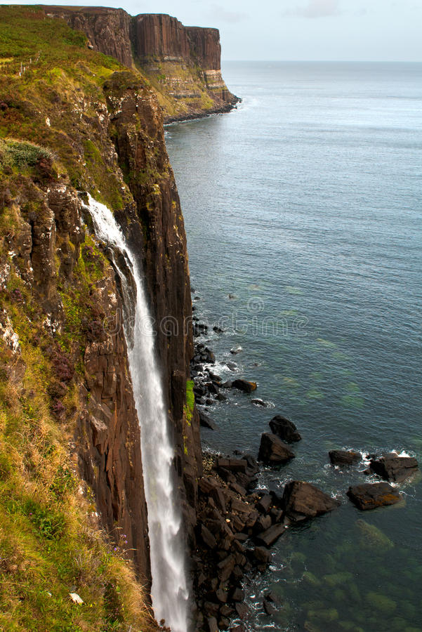 Kilt Rock and Mealt waterfall stock photos