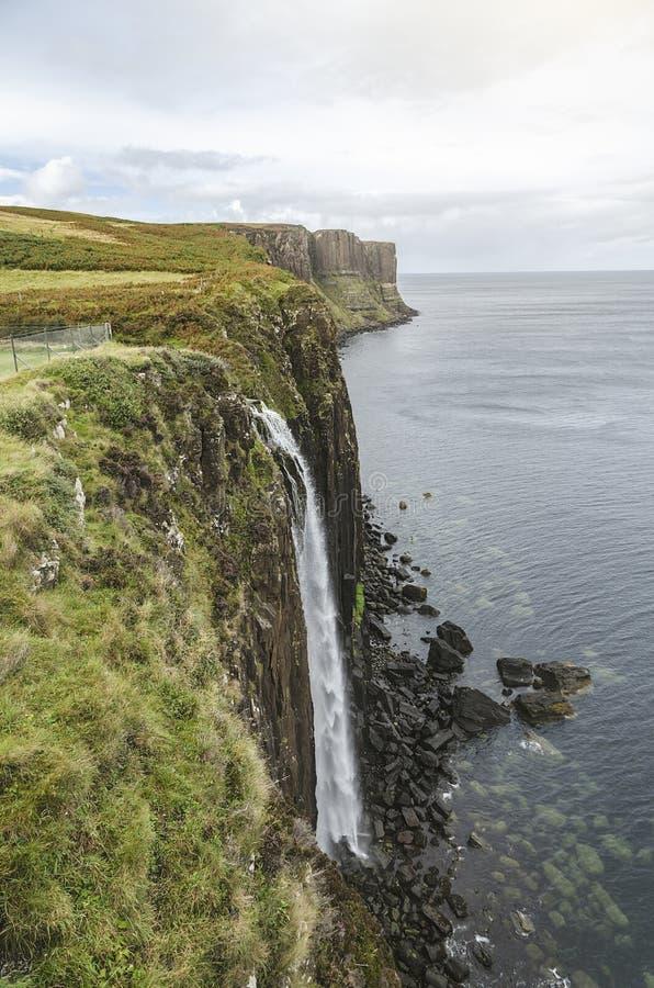 Kilt Rock Waterfall royalty free stock photo