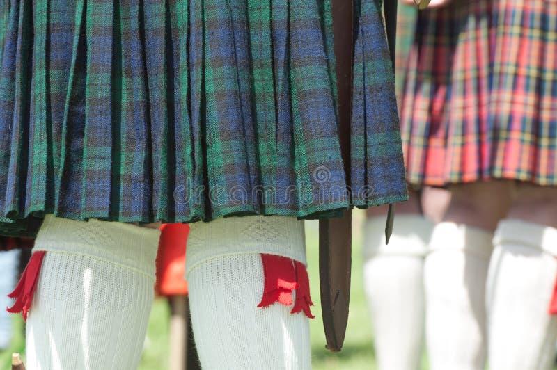 Kilt scozzese immagine stock