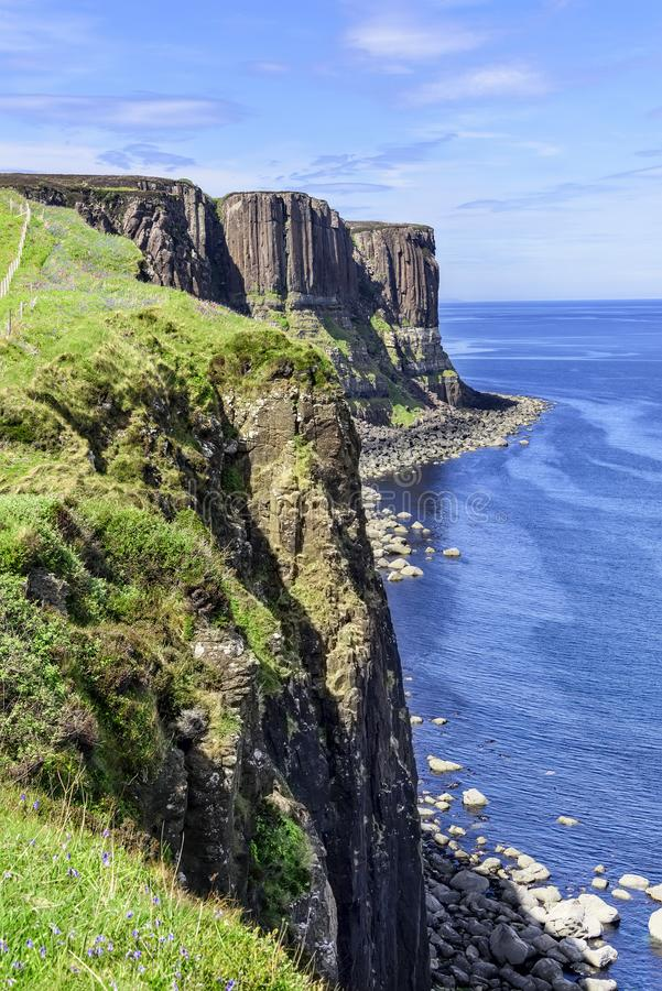 Kilt ska?a na wyspie Skye, Szkocja obraz royalty free