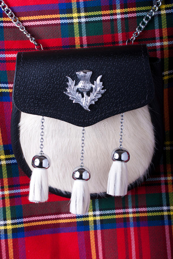 Download Kilt and Sporran stock image. Image of dress, purse, leather - 16549039