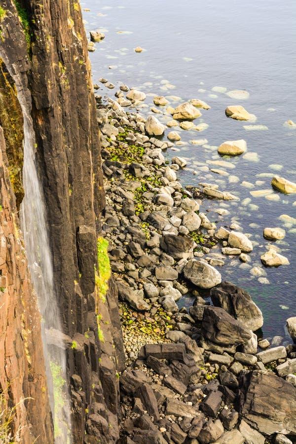 Kilten vaggar vattenfallet Elishader Ellishadder arkivfoto