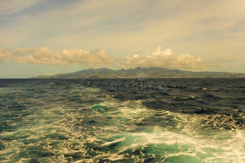 Kilwater wyspa prom w karaibskim zdjęcie royalty free