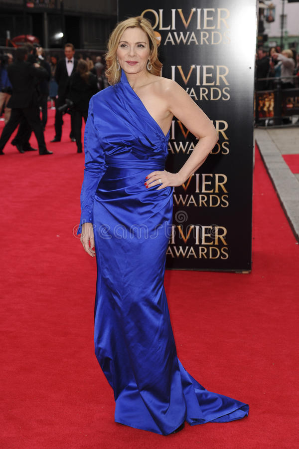 KIM CATRALL. Arriving for the Laurence Olivier Awards 2013 at the Royal Opera House, Covent Garden, London. 28/04/2013 Picture by: Steve Vas / Featureflash royalty free stock photos