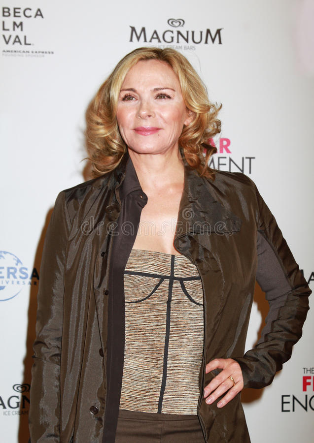 Kim Cattrall. English-Canadian stage, film, and television actress and author Kim Cattrall arrives on the red carpet for the world premiere of the comedy, The royalty free stock images