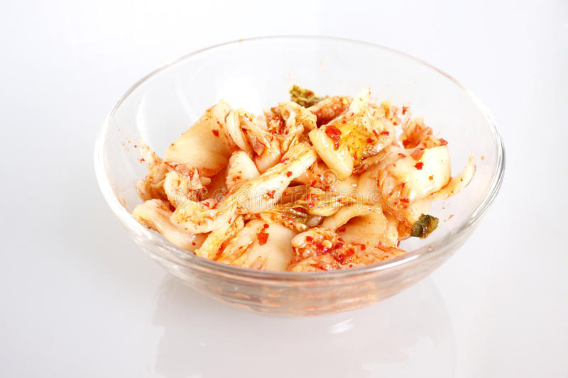 Kim chi. In a glass bowl royalty free stock photo