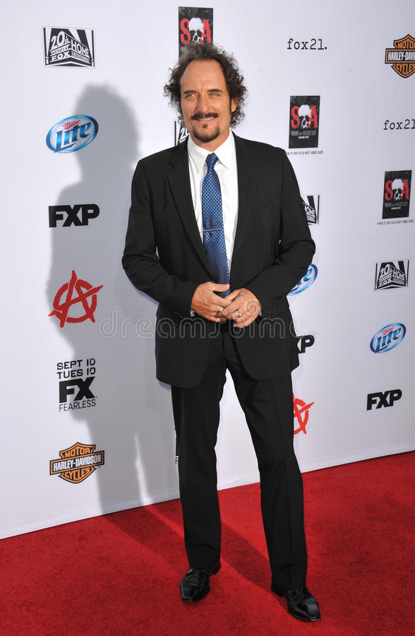 Kim Coates. LOS ANGELES, CA - SEPTEMBER 7, 2013: Kim Coates at the season 6 premiere of Sons of Anarchy at the Dolby Theatre, Hollywood stock photos