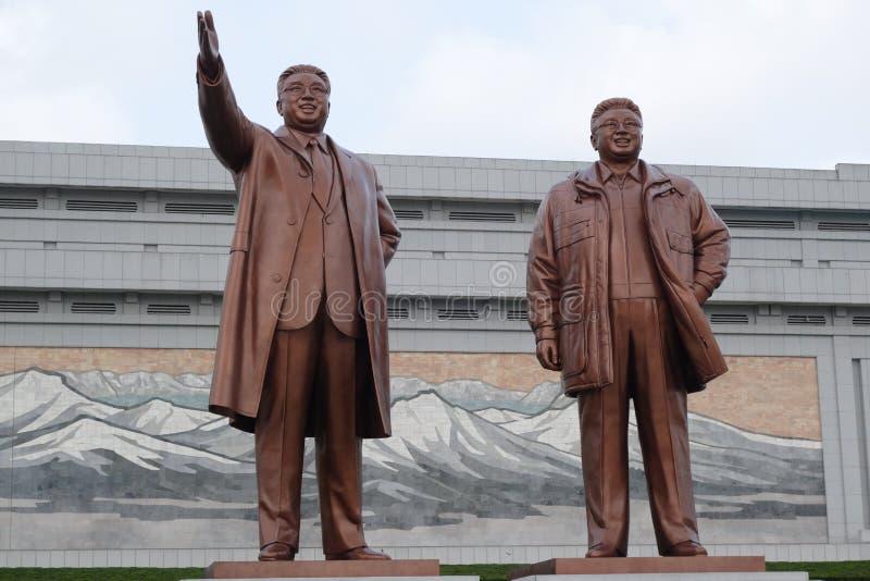 Kim Il Sung & Kim Jong Il stock images