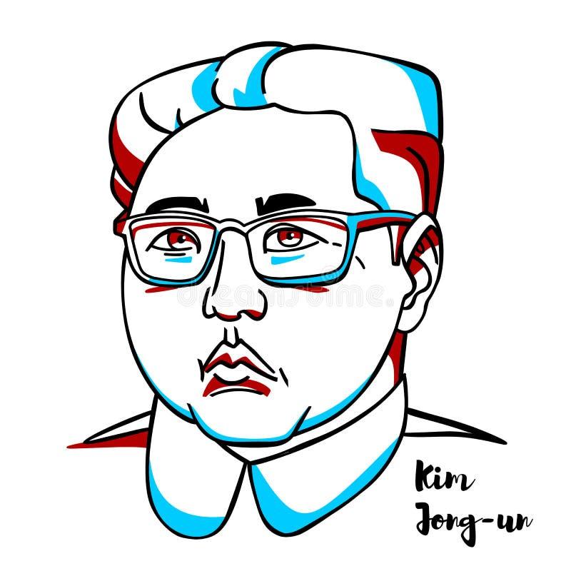 Kim Jong-FN stående stock illustrationer