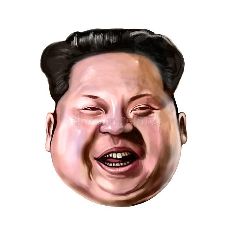 Ayvalik, Turkey - December 2017: Kim Jong-un cartoon portrait. vector illustration