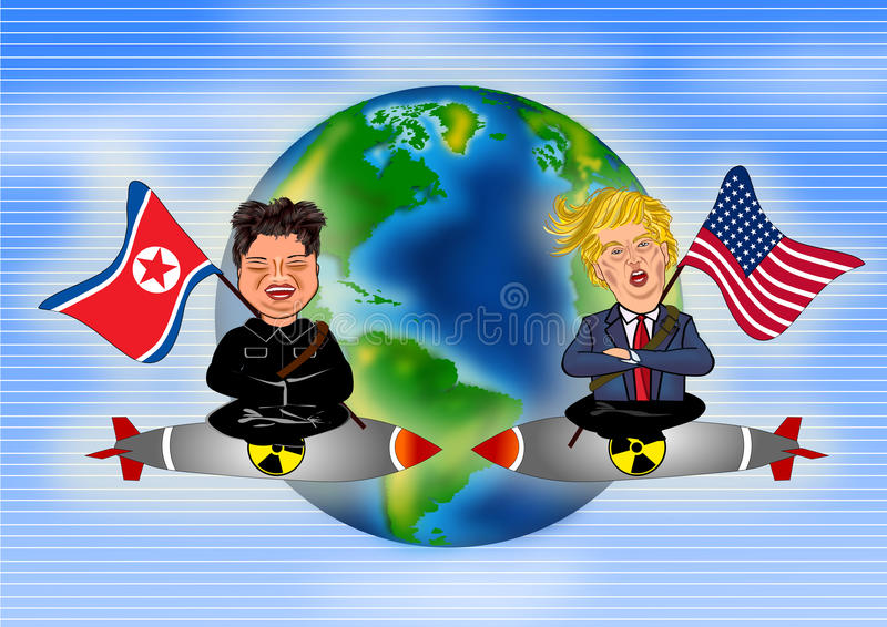 Kim Jong Un contro Donald Trump