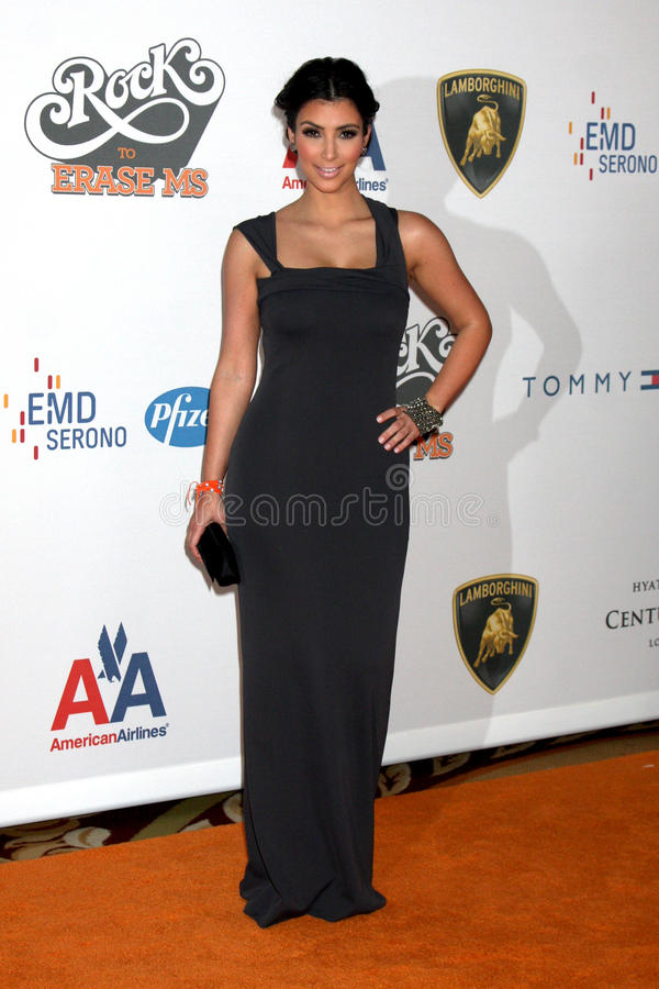 Kim Kardashian. Arriving at the Rock to Erase MS Gala at the Century Plaza Hotel in Century Ciy , CA on May 8, 2009 royalty free stock photo