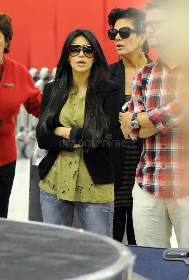 Kim Kardashian chez LAX photographie stock libre de droits